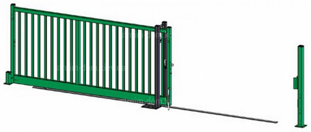 Откатные ворота на рельсах своими руками